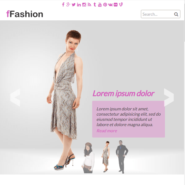 fFashion Responsive WordPress Theme