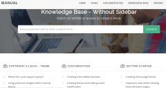 knowledge base page of Manual