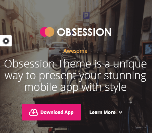 obsession landing page theme