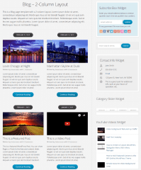 2-column blog template of WP-Blossom theme
