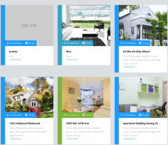 3-column blog of Estate Pro theme