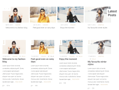 4-column blog grid of Milja theme