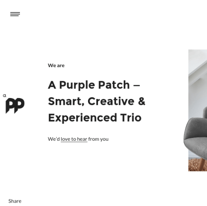 A purple patch homepage