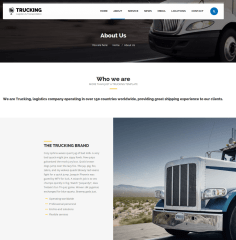 About Us Page – Trucking