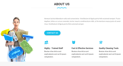 About Us Page of Cleaning