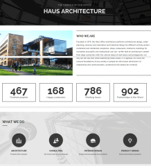 About page – Haus