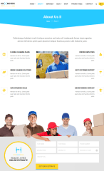 About page of Max Cleaners and Movers