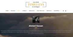 About page of Timeless