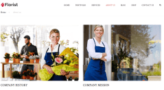 About us page of Florist