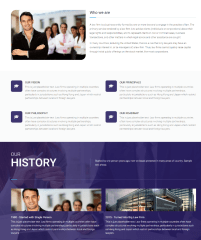 About us page of MyLawyer theme