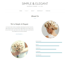 About us page of Simple & Elegant theme