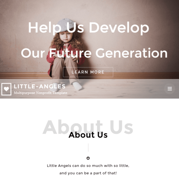 Angel – WordPress theme for nonprofit organisations or charity.