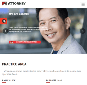 Attorney - Lawyers WP theme