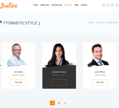 Attorney page of Justice
