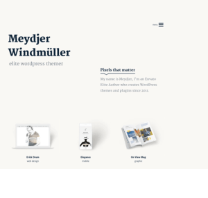 Axiom - Creative WordPress child theme.