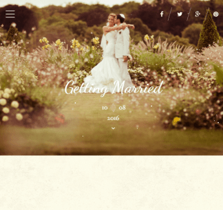 Best Day - Responsive One page Wedding WordPress theme