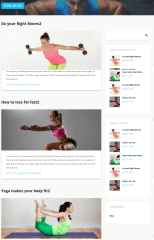 Blog Page with right sidebar – Stayfit