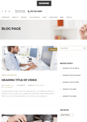 Blog page of Bookme