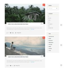 Blog page of Construct WP theme