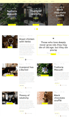 Blog page of Cook Traveler theme
