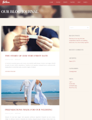 Blog page of FlatLove theme