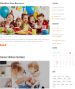 Blog page of Kids Planet theme