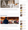 Blog page of Meeton theme