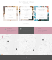 Blog page of Wedding Couple theme