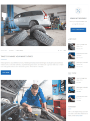 Blog posts of Car Service theme