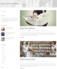 Blog with left sidebar – Finanza