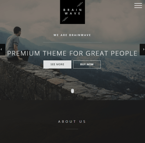 Brainwave – Multipurpose One and Multipage WordPress theme