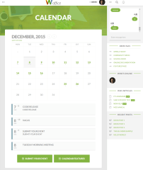 Calendar page – Woffice