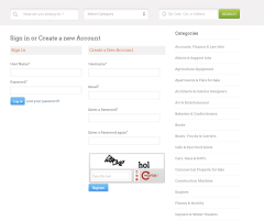 ClassiCraft – Here you can create new account.