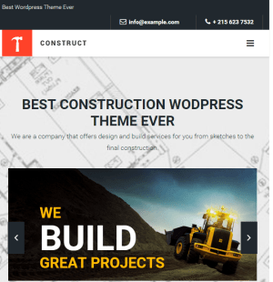 Construct - Constuction and Building WordPress theme