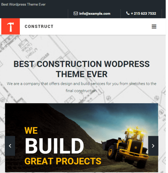 Construct – Constuction and Building WordPress theme