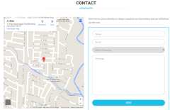 Contact Page of Cleaning