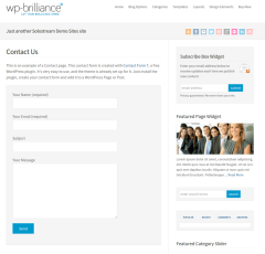 Contact Us Page WP-Brilliance