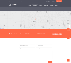 Contact page of Grace theme