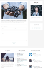 Contact page of INK theme