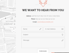 Contact page of Moose