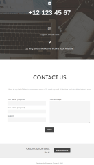 Contact page of Mountain