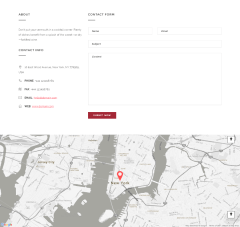 Contact page of Robusta theme