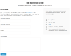 Contact page of WP-Boundless theme