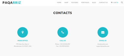 Contact page of paqarriz