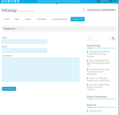 Contact us page of infoway theme