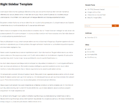 Corpus – page with right sidebar
