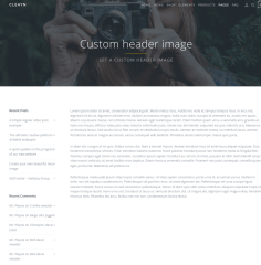 Custom Header image Page – Cleayn