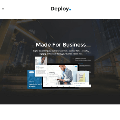 Deploy - WordPress theme for Business png