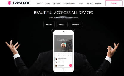 Device Page - AppStack