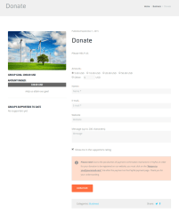 Donate Page – Good Energy